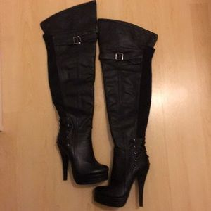 Shoes - Beautiful Black Over the Knee/Thigh-High Boots
